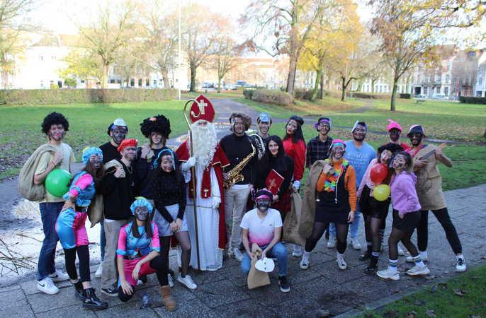 Sinterklaas op bezoek in de Steendam