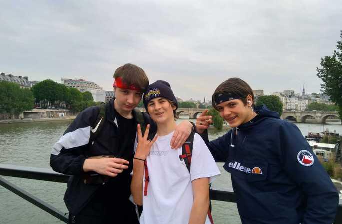 De derdejaars bezoeken Parijs